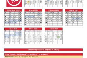 True North – Calendario Escolar 2020-2021 – as of Oct 23