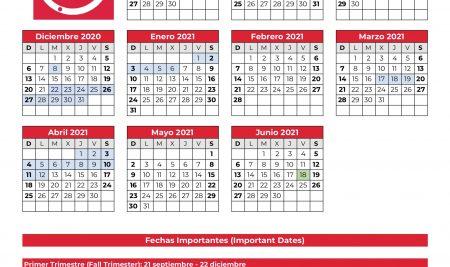 Calendario Académico 2020-2021